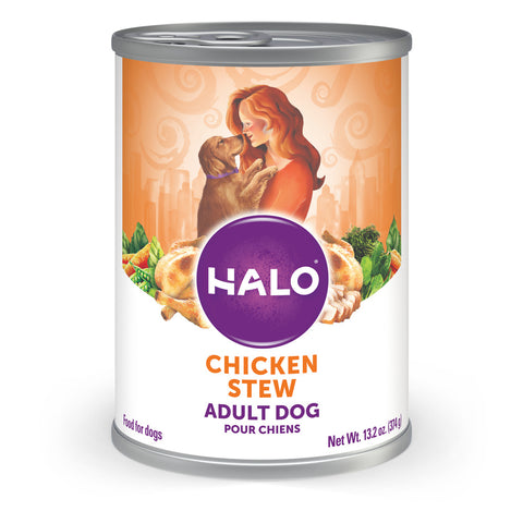 Halo Holistic Adult Chicken Stew Canned Dog Food