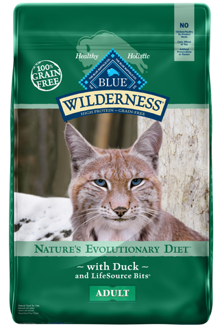 Blue Buffalo Wilderness Grain Free Natural Duck High Protein Recipe Dry Cat Food