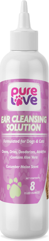 Pure Love Ear Cleaning Solution II-Cucumber Scent for Dogs and Cats