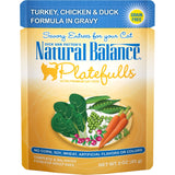 Natural Balance Platefulls Regular Grain Free Turkey Chicken and Duck in Gravy Pouch Wet Cat Food
