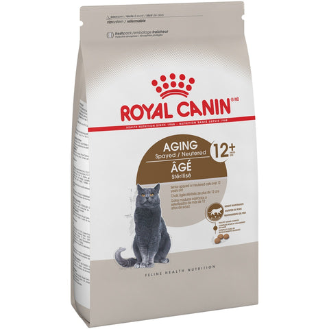 Royal Canin Feline Health Nutrition Aging Spayed/Neutered Senior 12+ Dry Cat Food