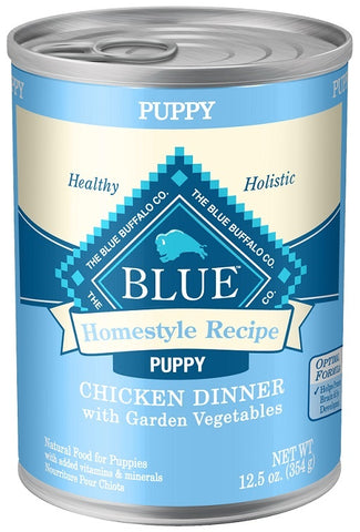 Blue Buffalo Homestyle Puppy Chicken Dinner with Garden Vegetables and Brown Rice Recipe Canned Dog Food