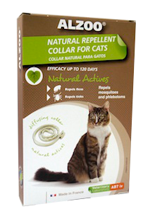 Alzoo Natural Repellent Flea and Tick Collar for Cats