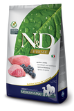 Farmina Prime N&D Natural & Delicious Grain Free Medium Adult Lamb & Blueberry Dry Dog Food