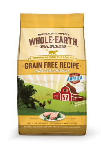 Whole Earth Farms Grain Free Real Chicken Recipe Dry Cat Food