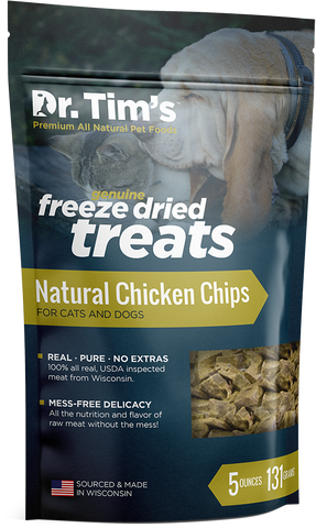 Dr. Tim's Freeze Dried Natural Chicken Chips Dog and Cat Treats