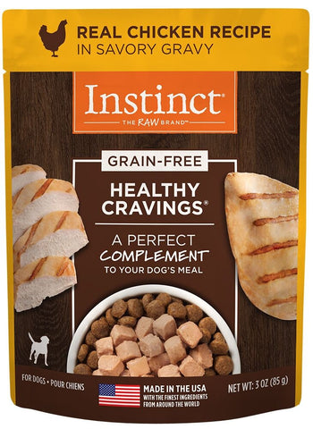 Instinct Healthy Cravings Grain Free Tender Chicken Recipe Meal Topper Pouches for Dogs