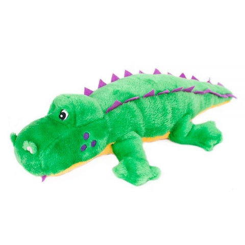 ZippyPaws Grunterz Alvin the Alligator Plush Dog Toy