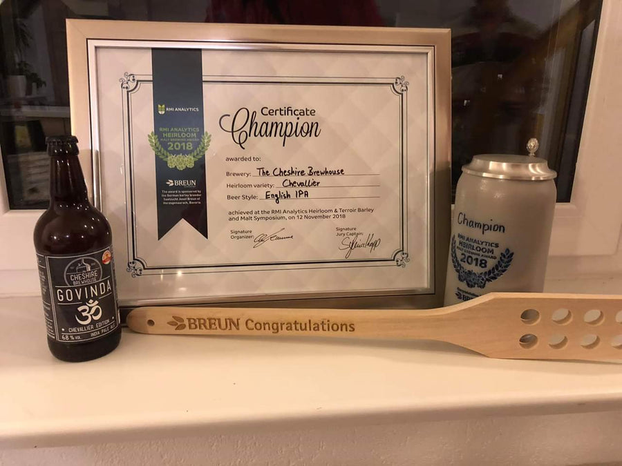 Govinda Chevallier Edition - RMI Analytics Heirloom Awards - Champion Beer Certificate