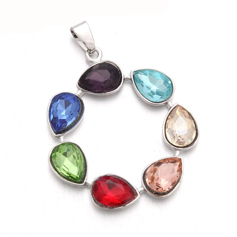 necklace crystal rainbow healing mystic pendant quartz