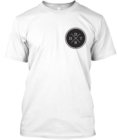 White DDTB Double Sided Tee