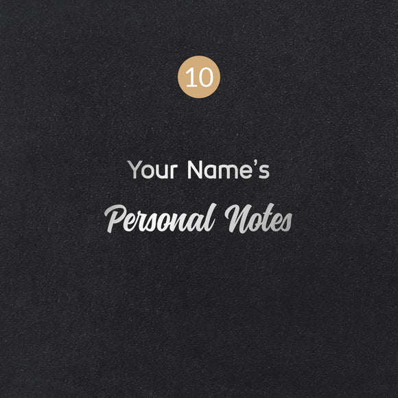 10 Personal Notes Symbol - Image Symbol Embossing Upgrade