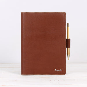 Refillable Journal with Pockets for 3 Cards and Pen