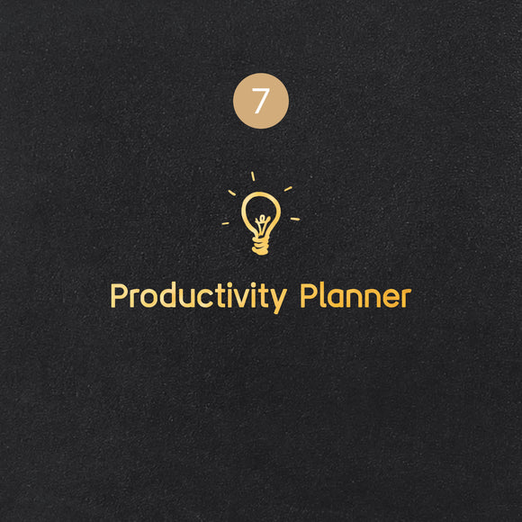 7 Productivity Planner Symbol - Image Symbol Embossing Upgrade