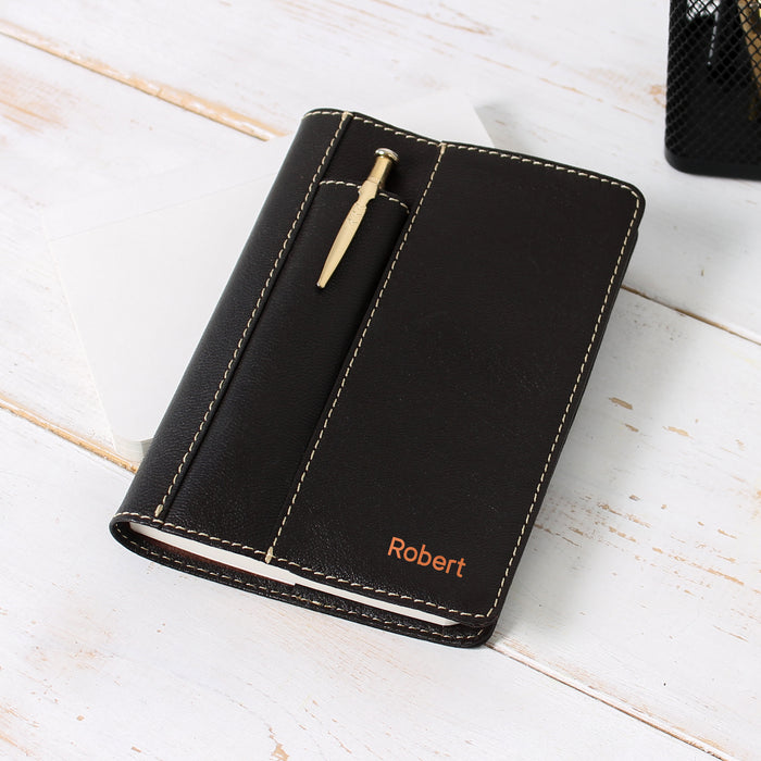 Soft Leather Refillable Business Journal