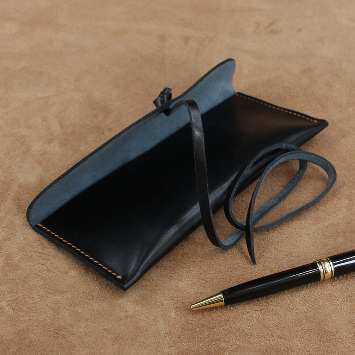 Leather Classic Wrap Pencil Case