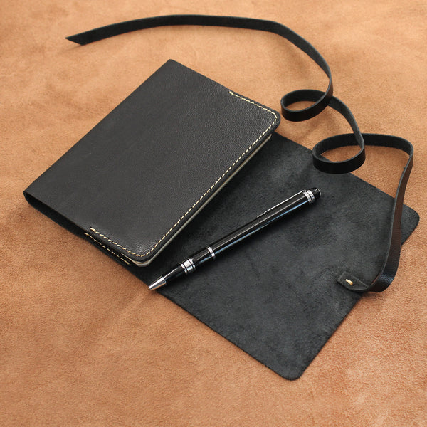 Soft Leather Vintage Wrap Refillable Journal