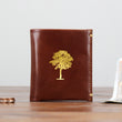 Leather Slim Wallet Personalised Bifold Wallet