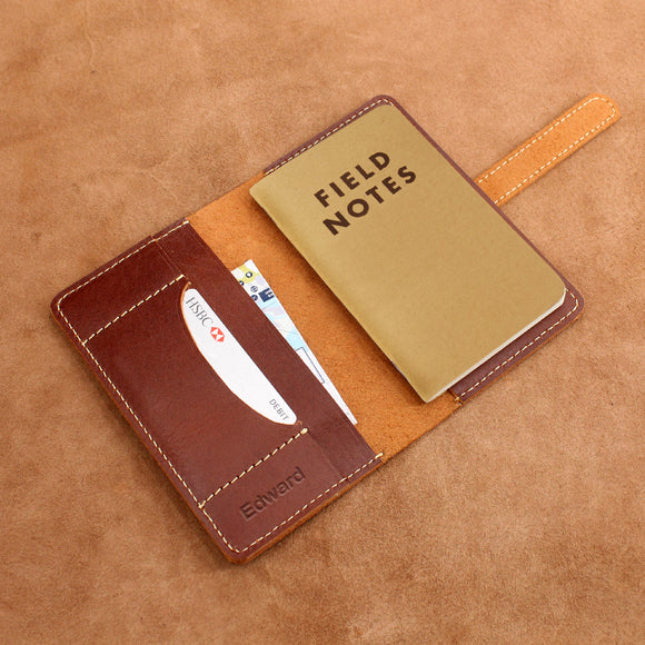 Field Notes Leather Cover with Card Holder