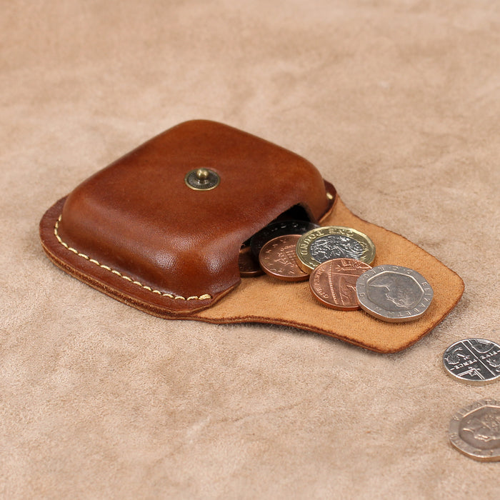Moulded Leather Coin Pouch