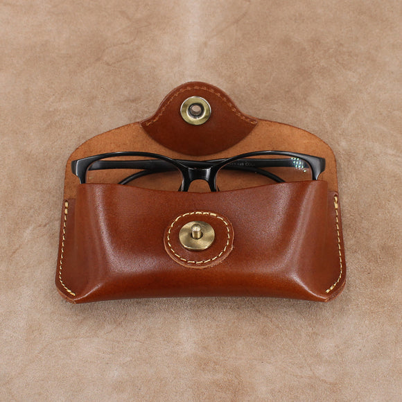Leather Sunglasses Case with Magnetic Closure
