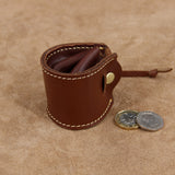 Leather Coin Pouch Mini Bucket