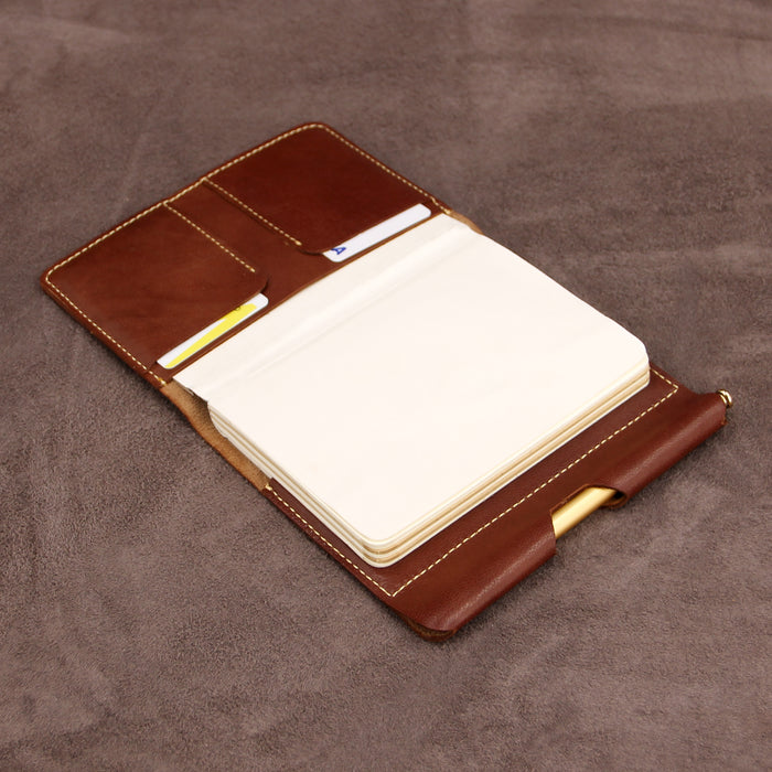 Soft Leather Refillable Journal with Pen Loop