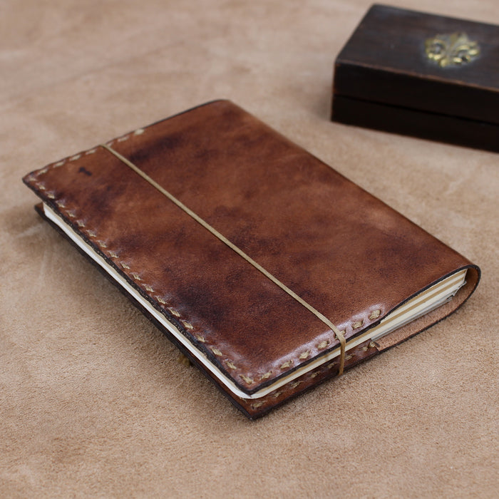 Vegetable Tanned Vintage Wrap Journal