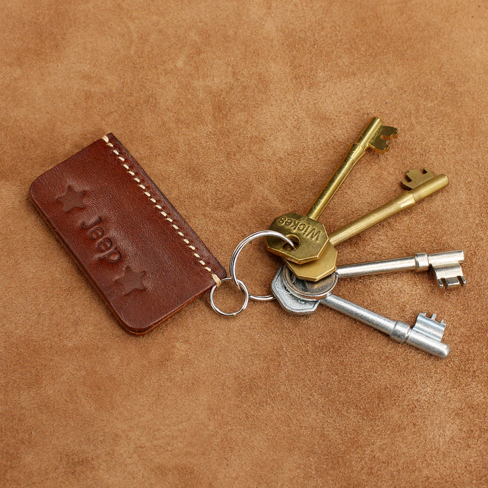 Custom Leather Keyring Gift