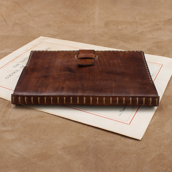 Vegetable Tanned Notebook Cover with Flap Closure