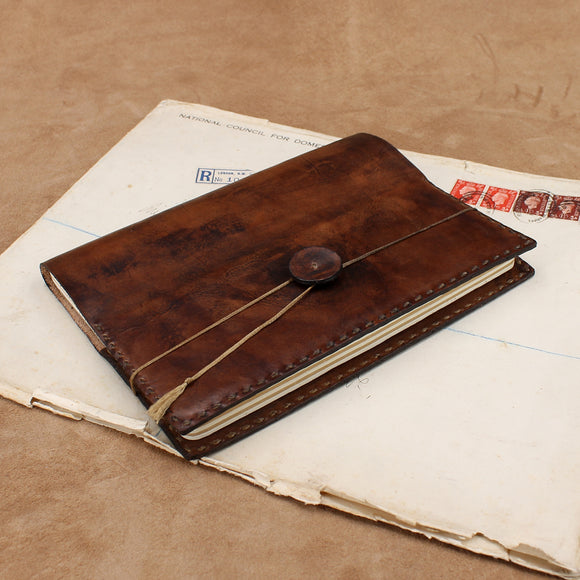 Vegetable Tanned Leather Wraparound Journal
