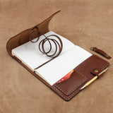 Hand Stitched Leather Wrap Journal