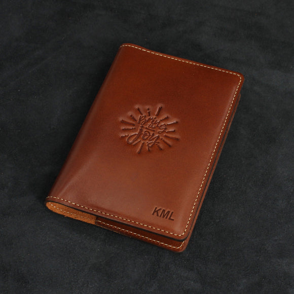A6 Classic Refillable Leather Journal with 2 Card Holders