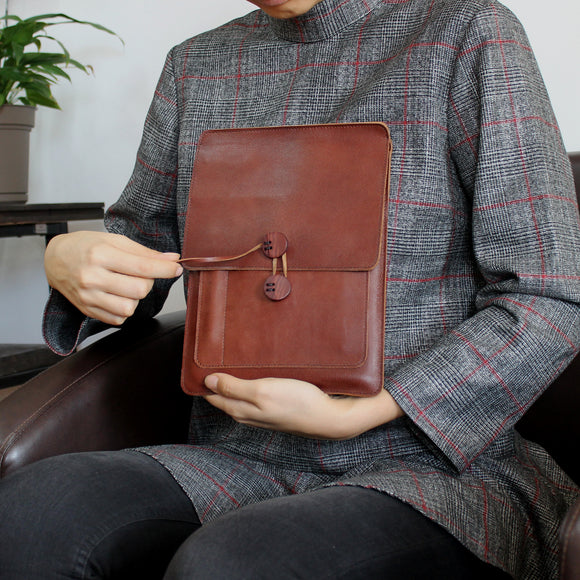 Tablet Leather Sleeves with String Closure