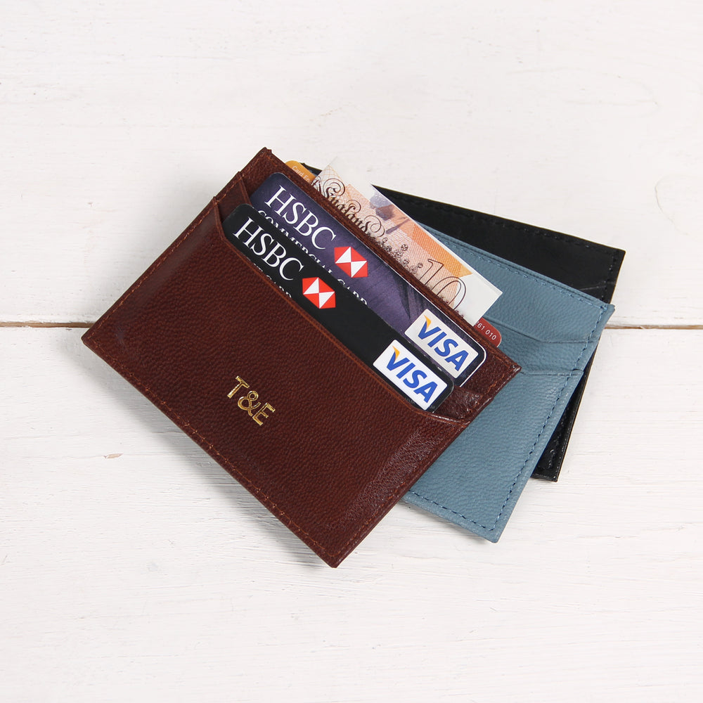 Slim Card Wallet Personalized Card Holder