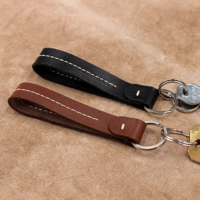 Stitched Leather Keyring