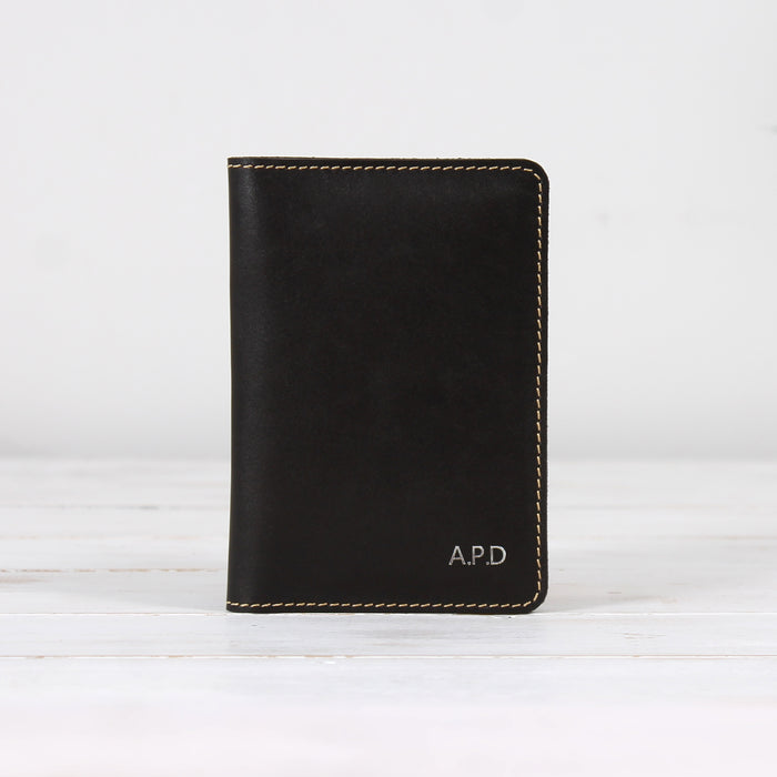Leather Travel Document Wallet with Card Holders