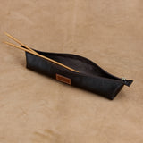 Leather Knitting Needle Case