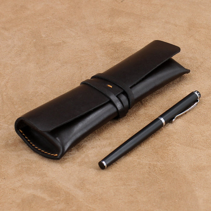 Vintage Wrap Leather Pen Case/Pencil Case