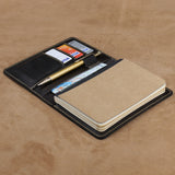 Leather A6 Notebook Cover with Pen Loop and 3 Card Holders