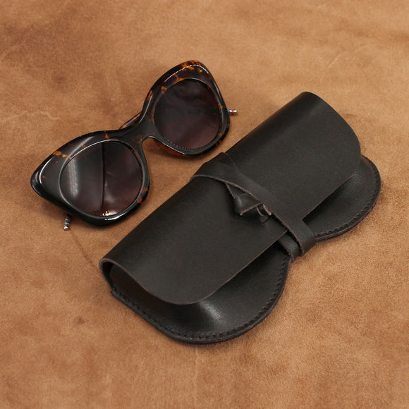 Classic Wrap Leather Sunglasses Case