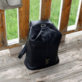 Leather Cross Body Backpack Multifunction Backpack