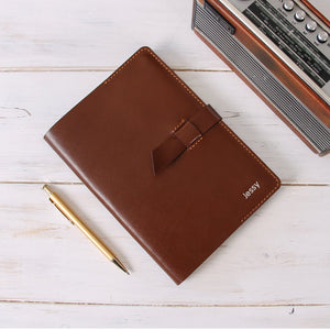 Personalised Notebook Leather Traveler's Journal Flap Closure