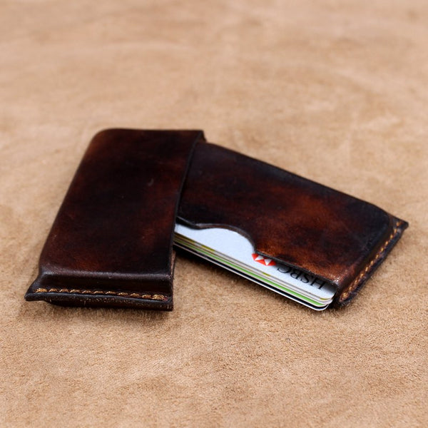 Vegetable Tanned Leather Business Card Holder