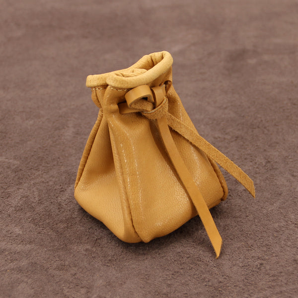 Soft Leather Coin Pouch Mini Bucket