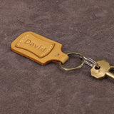 Leather Name Key Holder