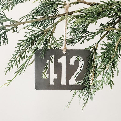 Pittsburgh, Pa Area Code 412 Ornament