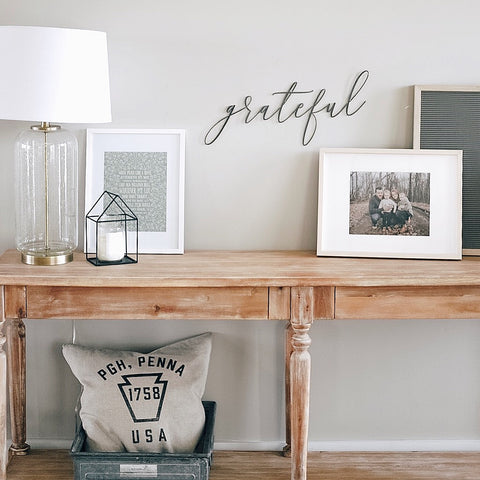 Grateful Script Wall Decor