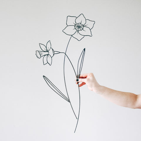Daffodil Flower Wall Decor