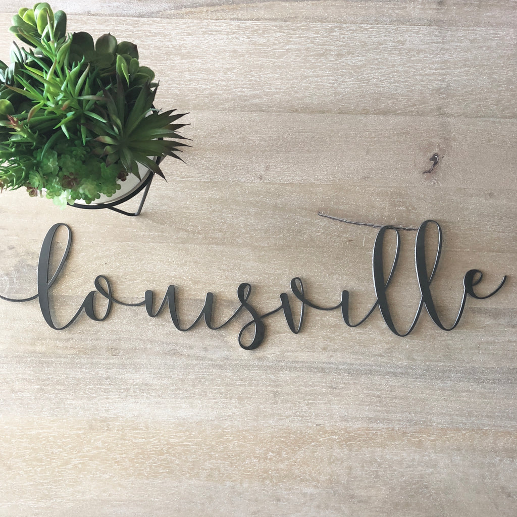 Louisville Script Wall Decor